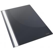 Скоросшиватель пластиковый Esselte VIVIDA А4, черный, 25 штук