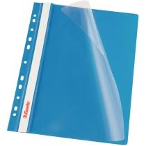 """Швидкозшивач Esselte VIVIDA А4 з прозорим верхом і перфорацією, колір """"синій"""", уп/10шт"""