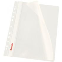 Скоросшиватель Esselte VIVIDA А4 с прозрачным верхом и перфорацией, белый, 10 штук