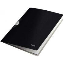 Папка с клипом Leitz Style ColorClip, A4 PP, сатиновый черный