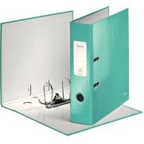 Папка-регистратор Leitz WOW с механизмом 180°, А4 80 мм, бирюзовый металлик