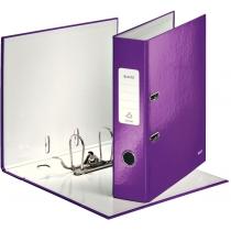 Папка-регистратор Leitz WOW с механизмом 180°, А4 80мм, фиолетовый металлик