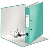 Папка-регистратор Leitz WOW с механизмом 180°, А4 50мм, бирюзовый металлик