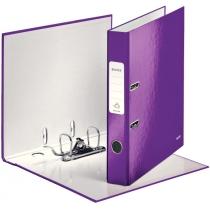 Папка-регистратор Leitz WOW с механизмом 180°, А4 50мм, фиолетовый металлик