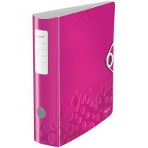 Папка-регистратор Leitz Active WOW 180°,  80мм, розовая