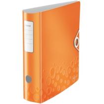 Папка-регистратор Leitz Active WOW 180°,  80мм, оранжевая