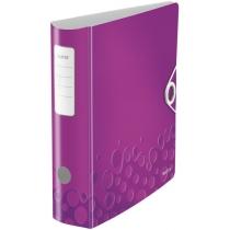 Папка-регистратор Leitz Active WOW 180°,  80мм, фиолетовая