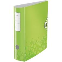 Папка-регистратор Leitz Active WOW 180°,  80мм, зеленая