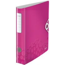 Папка-регистратор Leitz Active WOW 180°,  60мм, розовая