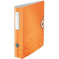 Папка-регистратор Leitz Active WOW 180°,  60мм, оранжевая