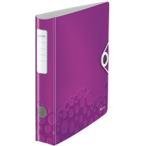 Папка-регистратор Leitz Active WOW 180°,  60мм, фиолетовая