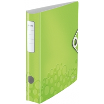Папка-регистратор Leitz Active WOW 180°,  60мм, зеленая