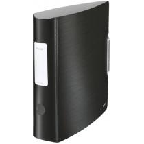 Папка-регистратор Leitz Active Style 180°, 82мм, сатиновый черный