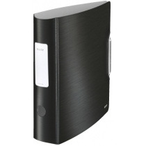 Папка-реєстратор Leitz Active Style 180°, 82мм, колір сатиновий чорний