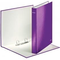 Папка-регистратор Leitz WOW, 2 кольца, 25мм, А4+, фиолетовый металлик