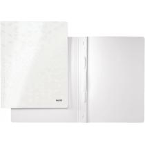 Швидкозшивач Leitz WOW, 250листів, А4, колір білий металік