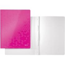 Швидкозшивач Leitz WOW, 250листів, А4, колір рожевий металік
