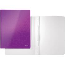 Скоросшиватель Leitz WOW, 250листов, А4, фиолетовый металлик