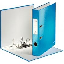 Папка-регистратор Leitz WOW с механизмом 180°, А4 50мм, синий металлик