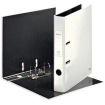Папка-регистратор Leitz WOW с механизмом 180°, А4 50мм, белый металлик