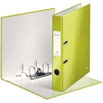 Папка-регистратор Leitz WOW с механизмом 180°, А4 50мм, зеленый металлик
