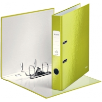 Папка-реєстратор Leitz WOW з механізмом 180°, А4 50мм, колір зелений металік