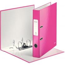 Папка-регистратор Leitz WOW с механизмом 180°, А4 50мм, розовый металлик