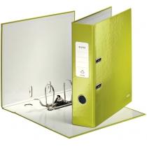 Папка-регистратор Leitz WOW с механизмом 180°, А4 80мм, зеленый металлик