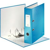 Папка-регистратор Leitz WOW с механизмом 180°, А4 80мм, синий металлик