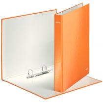 Папка-регистратор Leitz WOW, 2 кольца, 25мм, А4+, оранжевый металлик