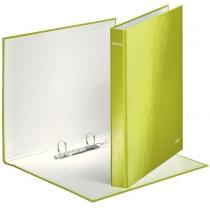 Папка-регистратор Leitz WOW, 2 кольца, 25мм, А4+, зеленый металлик