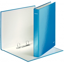 Папка-регистратор Leitz WOW, 2 кольца, 25мм, А4+, синий металлик