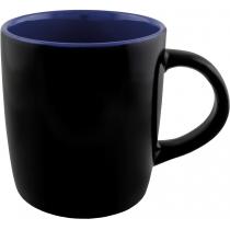 Чашка керамическая TEONA Optima promo 350мл, черно-синяя