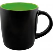 Чашка керамическая TEONA Optima promo 350мл, черно-зеленая