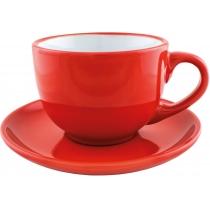 Набор чайный керамический VENA Economix promo 250мл, красный