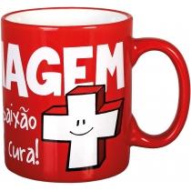 Чашка керамическая ARENA Economix promo цилиндр 300мл, красная
