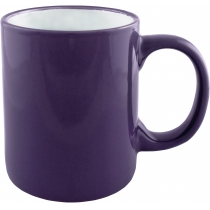 Чашка керамическая ARENA Economix promo цилиндр 300мл, фиолетовая