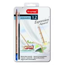 Набір акварельних олівців EXPRESSION, 12шт., мет.коробка, Bruynzeel