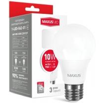Лампа светодиодная MAXUS A60 10W яркий свет 220V E27 (1-LED-562-01)