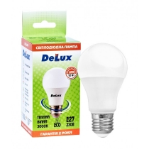 Лампа светодиоднаяDELUX BL 60 12W 3000K Е27