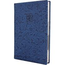 Ежедневник датированный 2020, LADY, голубой, кремовый блок, А5