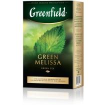 Чай Greenfield Green Melissa 85 г зеленый китайский с мелисcой, мятой и лимоном