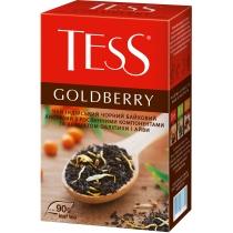 Чай TESS Goldberry 90 г черный индийский с кусочками айвы, яблоки, лепестками календулы