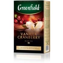Чай Greenfield Vanilla Cranberry 100 г черный индийский с ванилью, клюквой, ананасом и лепесткам