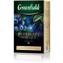 Чай Greenfield Blueberry Nights 100 г черный со вкусом черники и сливок, каркаде