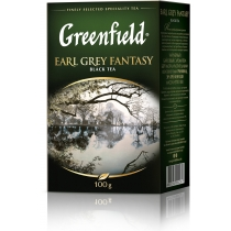 Чай Greenfield Earl Grey Fantasy 100 г черный цейлонский с бергамотом + васильки + цитрусы