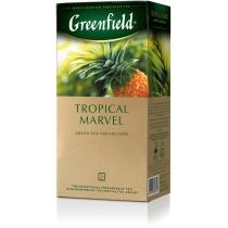 Чай Greenfield Tropical Marvel 25 шт х 2 г китайский зеленый с ананасом и имбирем
