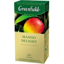 Чай Greenfield Mango Delight 25 шт х 1,8 г  китайський зелений з манго і яблуком