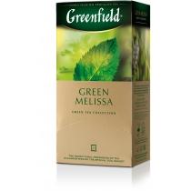 Чай Greenfield Green Melissa 25 шт х 1,5 г зелений китайський з мелісcой, м'ятою і лимоном