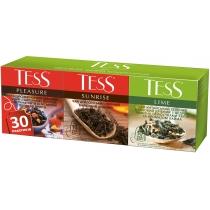 Чай TESS Ассорти №1 Pleasure / Sunrise / Lime 30 шт (10 шт х 1,5 г + 10 шт х 1,8 г + 10 шт х 1,5 г)